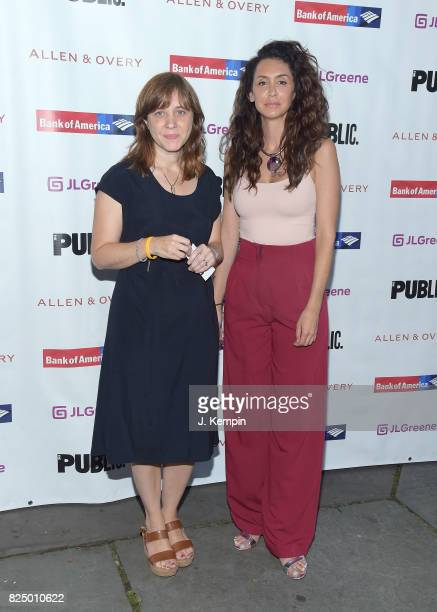 Kate Whoriskey and Mozhan Marno attend 'A Midsummer Night's Dream' Opening Night at Delacorte Theater on July 31 2017 in New York City