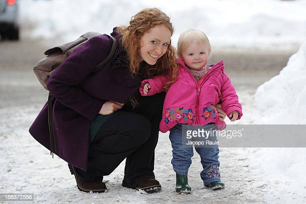 Kate Williams and her daughter are seen during the 22th Courmayeur Noir In Festival on December 14 2012 in Courmayeur Italy