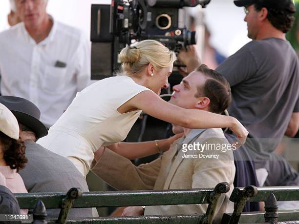 Kate Winslet and David Harbour during Kate Winslet On Set of 'Revolutionary Road' May 30 2007 at Streets of Manhattan in New York New York United...