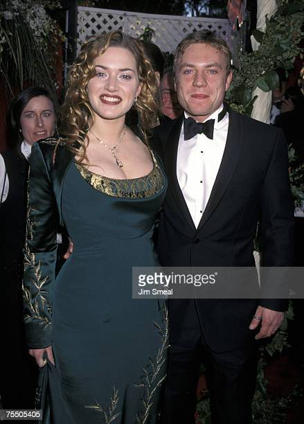 Kate Winslet and James Threapleton at the Shrine Auditorium in Los Angeles, California