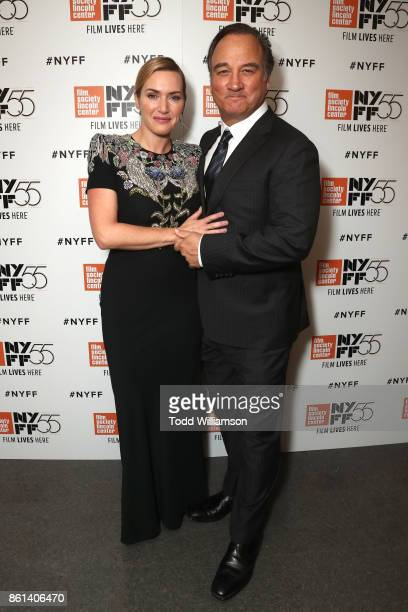 Kate Winslet and Jim Belushi attend the NYFF premiere of 'Wonder Wheel' at Alice Tully Hall on October 14 2017 in New York City