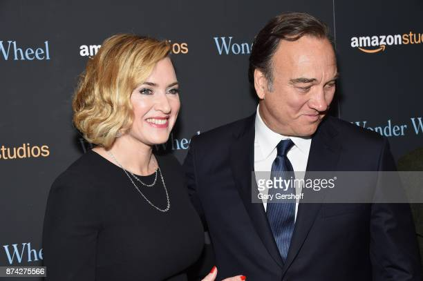 Kate Winslet and Jim Belushi attend the 'Wonder Wheel' New York screening at the Museum of Modern Art on November 14 2017 in New York City