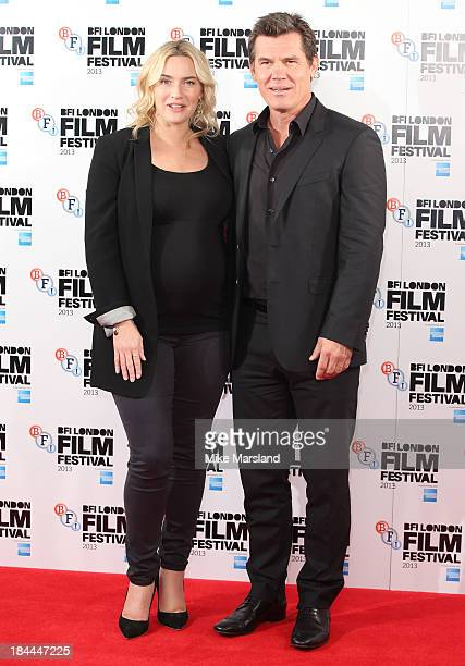 Kate Winslet and Josh Brolin attend the photocall for 'Labor Day' during the 57th BFI London Film Festival at The Mayfair Hotel on October 14 2013 in...