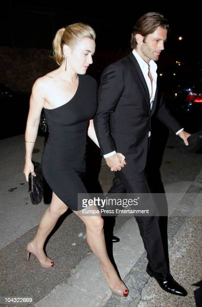 Kate Winslet and Louis Dowler attend a private party at Javier Hidalgo's home on September 20 2010 in Madrid Spain
