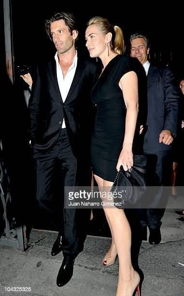 Kate Winslet and Louis Dowler sighting in Madrid on September 20 2010 in Madrid Spain
