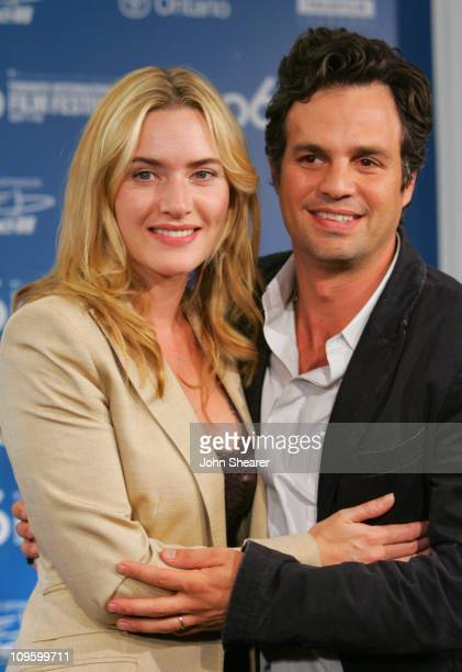 """Kate Winslet and Mark Ruffalo during 31st Annual Toronto International Film Festival - """"All The Kings Men"""" Press Conference at Sutton Place Hotel in..."""