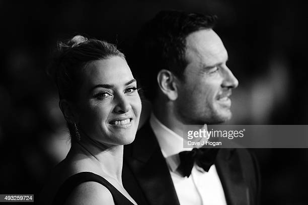 Kate Winslet and Michael Fassbender attend a screening of 'Steve Jobs' on the closing night of the BFI London Film Festival at Odeon Leicester Square...