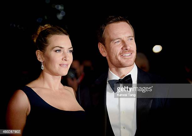 Kate Winslet and Michael Fassbender attend a screening of Steve Jobs on the closing night of the BFI London Film Festival at Odeon Leicester Square...