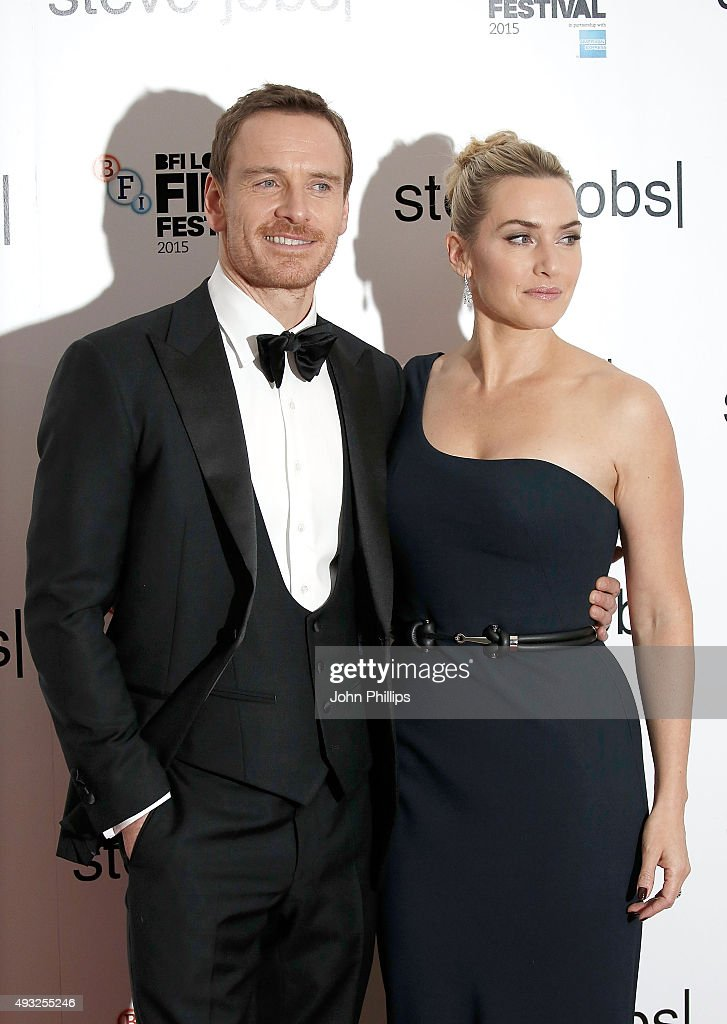 Kate Winslet and Michael Fassbender attend the 'Steve Jobs' Closing Night Gala during the BFI London Film Festival, at Odeon Leicester Square on October 18, 2015 in London, England.
