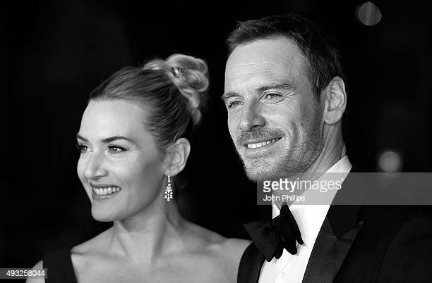 Kate Winslet and Michael Fassbender attend the 'Steve Jobs' Closing Night Gala during the BFI London Film Festival at Odeon Leicester Square on...