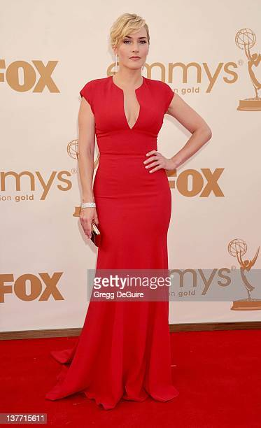 Kate Winslet arrives at the Academy of Television Arts & Sciences 63rd Primetime Emmy Awards at Nokia Theatre L.A. Live on September 18, 2011 in Los...