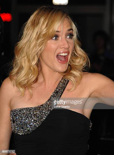 Kate Winslet arrives at the Los Angeles premiere of 'Revolutionary Road' at the Mann Village Theater on December 15 2008 in Westwood California