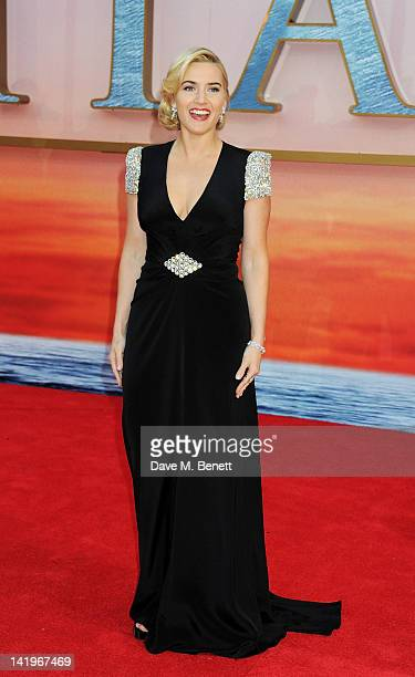 Kate Winslet arrives at the World Premiere of 'Titanic 3D' at the Royal Albert Hall on March 27, 2012 in London, England.