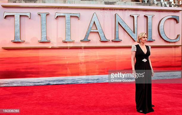 Kate Winslet arrives at the World Premiere of 'Titanic 3D' at the Royal Albert Hall on March 27 2012 in London England