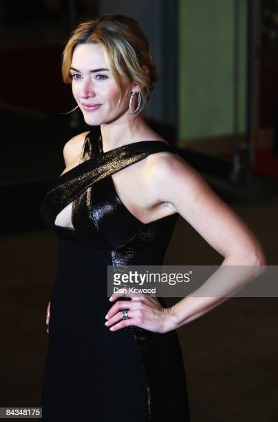 Kate Winslet arrives for the European Film Premiere of 'Revolutionary Road' at the Odeon Leicester Square on January 18 2009 in London England