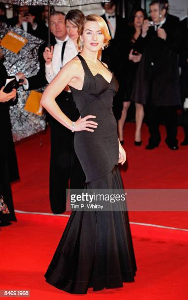 Kate Winslet arrives for the Orange British Academy Film Awards 2009 at the Royal Opera House on February 8 2009 in London England