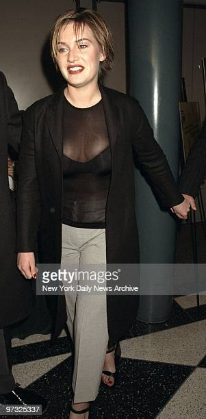 Kate Winslet at New York premiere of the movie Hideous Kinky