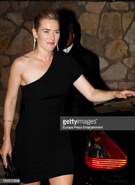 Kate Winslet attends a private party at Javier Hidalgo's home on September 20 2010 in Madrid Spain