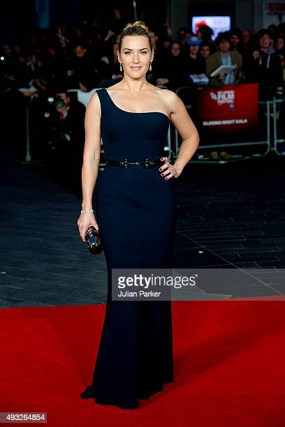 Kate Winslet attends a screening of 'Steve Jobs' on the closing night of the BFI London Film Festival at Odeon Leicester Square on October 18, 2015...