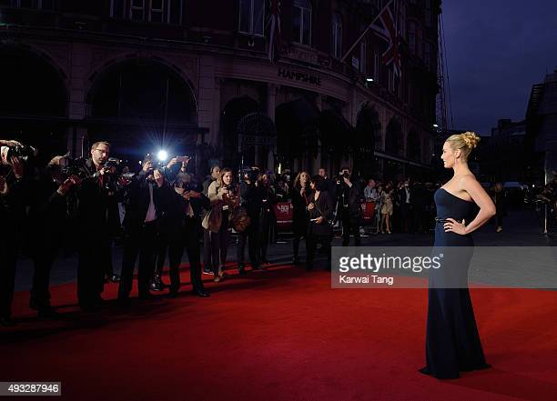Kate Winslet attends a screening of Steve Jobs on the closing night of the BFI London Film Festival at Odeon Leicester Square on October 18 2015 in...