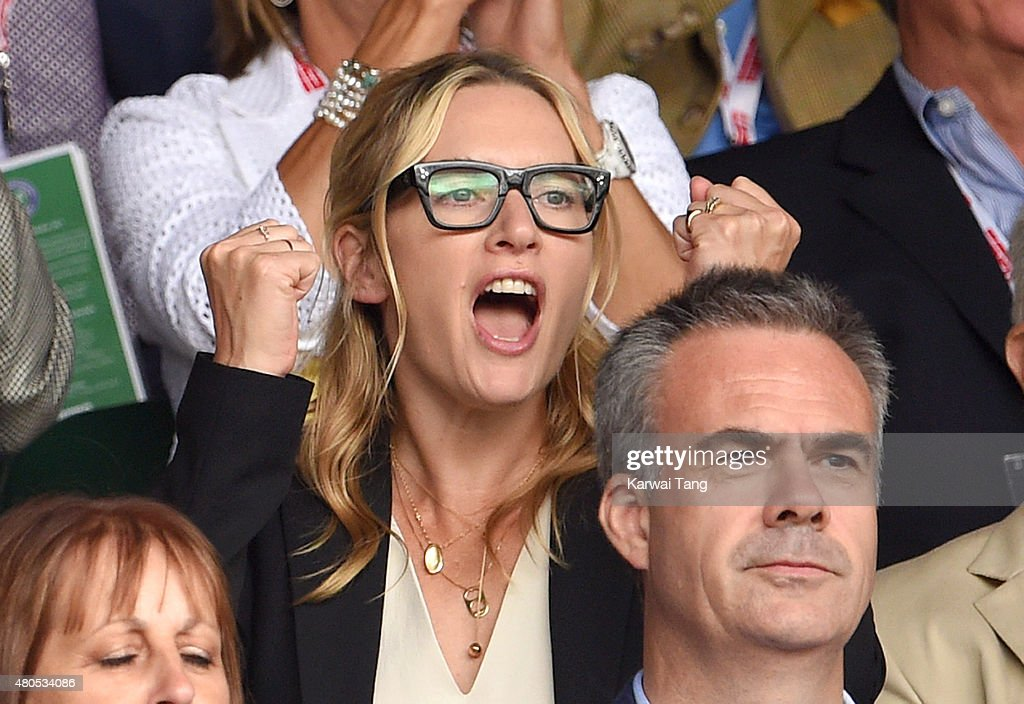 Kate Winslet attends day 13 of the Wimbledon Tennis Championships at Wimbledon on July 12, 2015 in London, England.