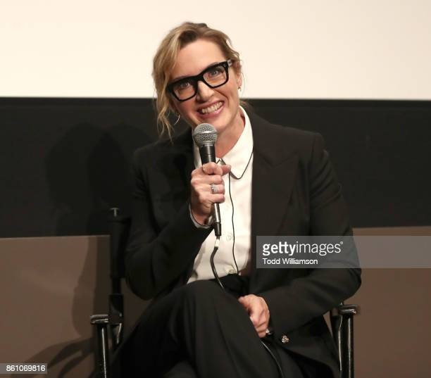 Kate Winslet attends NYFF's 'A Conversation With Kate Winslet' at Francesca Beale Theater on October 13 2017 in New York City