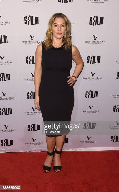 Kate Winslet attends SFFILM's 60th Anniversary Awards Night at Palace of Fine Arts Theatre on December 5 2017 in San Francisco California