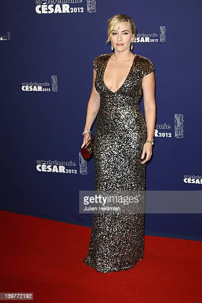 Kate Winslet attends the 37th Cesar Film Awards at Theatre du Chatelet on February 24 2012 in Paris France
