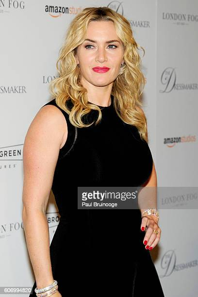 Kate Winslet attends the London Fog Presents a New York Special Screening of The Dressmaker at Florence Gould Hall on September 16 2016 in New York...