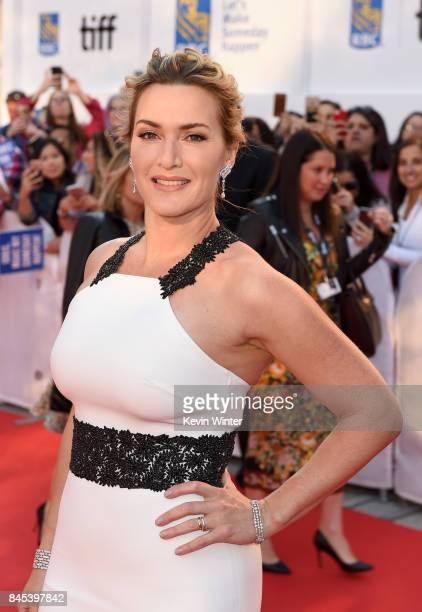 """Kate Winslet attends """"The Mountain Between Us"""" premiere during the 2017 Toronto International Film Festival at Roy Thomson Hall on September 10, 2017..."""