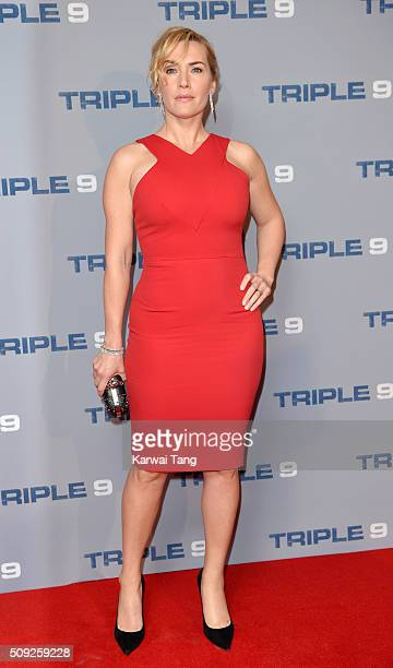 Kate Winslet attends the Special Screening of 'Triple 9' at Ham Yard Hotel on February 9 2016 in London England