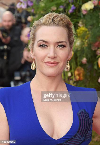 """Kate Winslet attends the UK premiere of """"A Little Chaos"""" at ODEON Kensington on April 13, 2015 in London, England."""