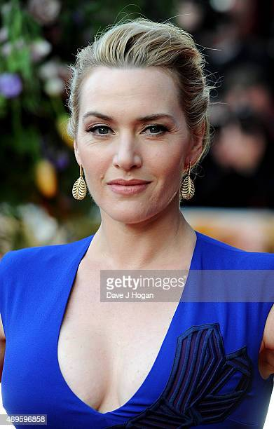 Kate Winslet attends the UK premiere of A Little Chaos at ODEON Kensington on April 13 2015 in London England