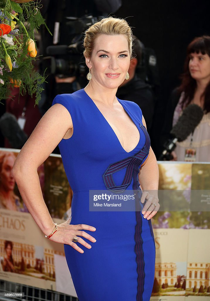 Kate Winslet attends the UK premiere of 'A Little Chaos' at ODEON Kensington on April 13, 2015 in London, England.