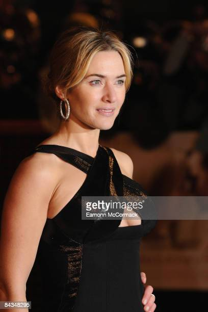Kate Winslet attends the UK premiere of 'Revolutionary Road' at Odeon Leicester Square on January 18 2009 in London England