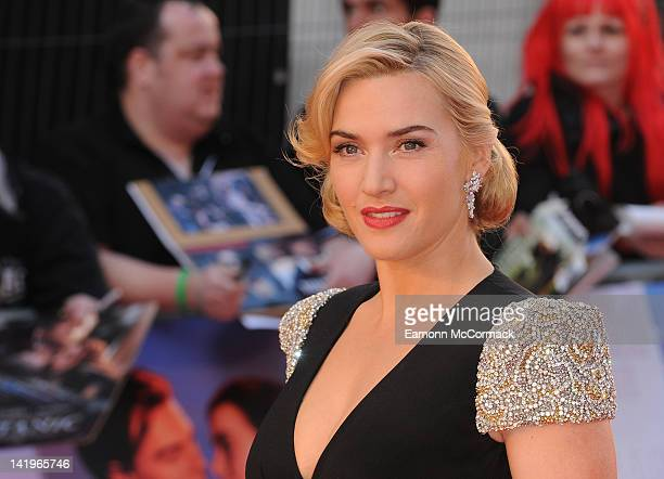 Kate Winslet attends the world premiere of 'Titanic 3D' at Royal Albert Hall on March 27 2012 in London England