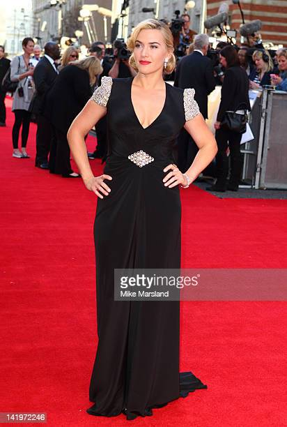 Kate Winslet attends the world premiere of 'Titanic 3D' at Royal Albert Hall on March 27, 2012 in London, England.