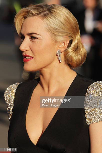 Kate Winslet attends the world premiere of Titanic 3D at The Royal Albert Hall on March 27 2012 in London England