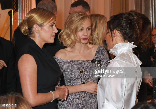 Kate Winslet Carey Mulligan and Victoria Beckham attend Harper's Bazaar Women of the Year Awards in association with Ralph Russo Audemars Piguet and...