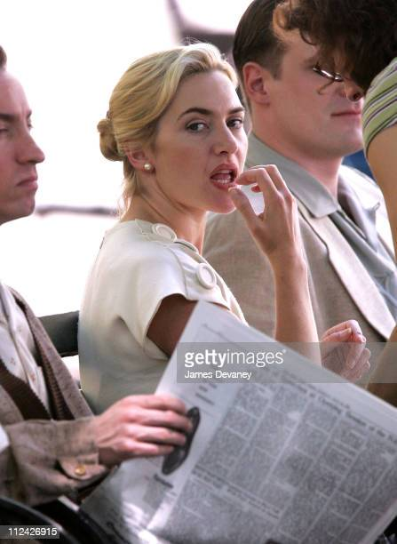 Kate Winslet during Kate Winslet On Set of 'Revolutionary Road' May 30 2007 at Streets of Manhattan in New York New York United States