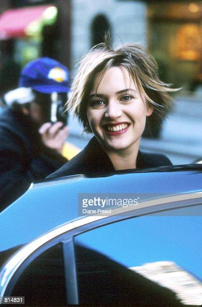 Kate Winslet is caught on the streets of New York City getting into her limo April 15 1999