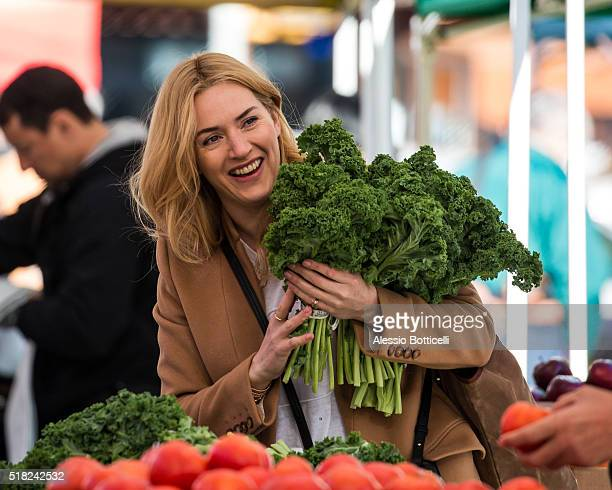 Kate Winslet is seen filming Collateral Beauty on March 30 2016 in New York City