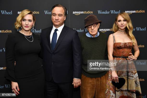 Kate Winslet Jim Belushi Woody Allen and Juno Temple attend the 'Wonder Wheel' screening at Museum of Modern Art on November 14 2017 in New York City