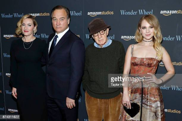 Kate Winslet Jim Belushi Woody Allen and Juno Temple attend the premiere of 'Wonder Wheel' at Museum of Modern Art on November 14 2017 in New York...