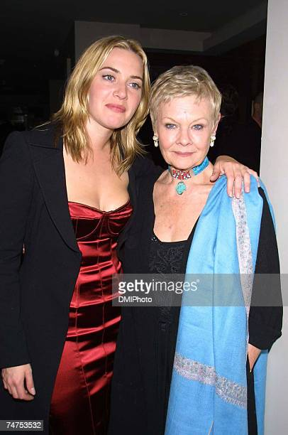 Kate Winslet Judi Dench at the Party Following Premiere of 'Iris' at Fred's Restaurant in New York New York