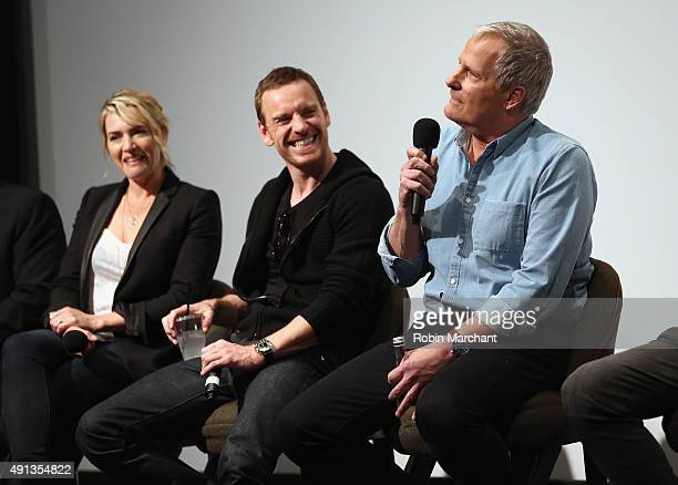 Kate Winslet Michael Fassbender and Jeff Daniels attend the Academy of Motion Picture Arts and Sciences hosts an official Academy screening of Steve...