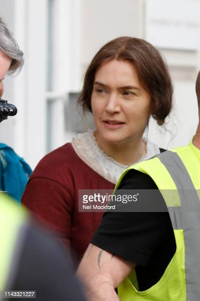 Kate Winslet seen on the set of Ammonite on April 17 2019 in London England