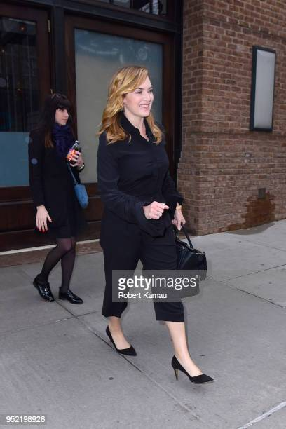 Kate Winslet seen out and about in Manhattan on April 27 2018 in New York City