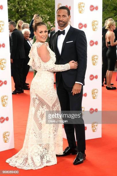 Kate Wright and Rio Ferdinand attend the Virgin TV British Academy Television Awards at The Royal Festival Hall on May 13 2018 in London England