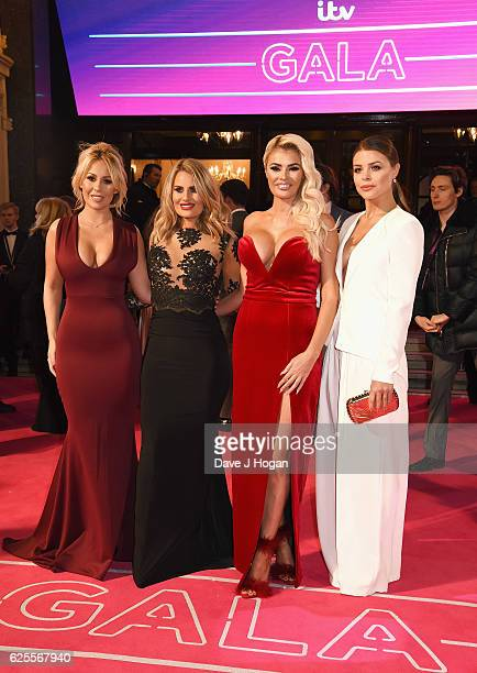 Kate Wright Danielle Armstrong Chloe Sims and Chloe Lewis of Towie attend the ITV Gala hosted by Jason Manford at London Palladium on November 24...
